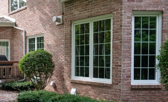 White Casement Window with Grids