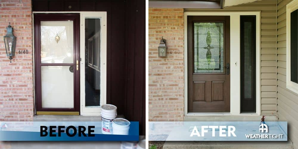 New Entry Door Before & After