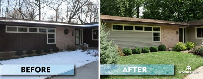Vinyl Siding Before & After
