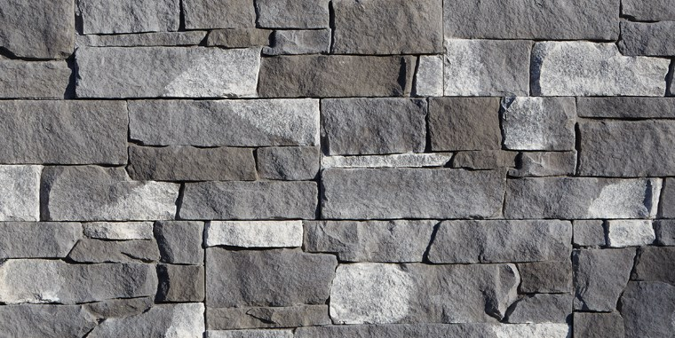 Adirondack Snowfall Stone Siding Option